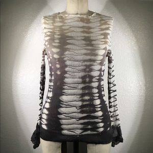 NWT Viviana Uchitel Long Sleeve Blouse Sz 3